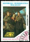 Sztuka znaczka. rewolucjonistów. — Zdjęcie stockowe