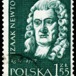 Stock Photo: Vintage postage stamp. Sir Isaac Newton.