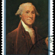 Vintage  postage stamp. George  Washington. - Stock Photo