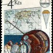 Vintage postage stamp. Soyuz 28. — Stock Photo