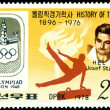 Stamp. Olympic champion Josef Stalder. — Stock Photo #6610322