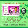Stamp.  Olympic champion Ku Jong Jo. - Stock Photo