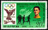 Pul. olimpiyat şampiyonu michel theato. — Stok fotoğraf