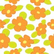 Seamless floral pattern with orange flowers — Stock Vector