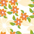Seamless floral pattern with orange flowers — Stock Vector #5690630