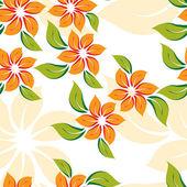 Bezešvé květinový vzor s oranžovými květy — Stock vektor