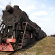 Standing steam train — Stock Photo