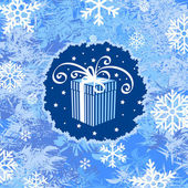 Regalo de navidad y año nuevo — Vector de stock