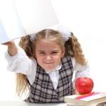 Angry schoolgirl — Stock Photo