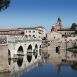 Tiberius' Bridge. Rimini, Italy - Stock Photo