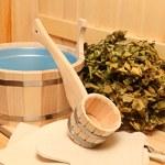Still life of a steam bath-room accessories — Stock Photo #6178217
