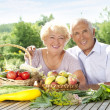 Stock Photo: Senior loving couple