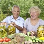 Senior loving couple — Stock Photo