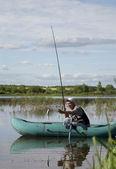 Äldre fiskare — Stockfoto