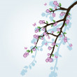 Abstract background with sakura branch — Stock Vector