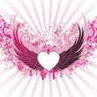 Banner with wings — Vector de stock #5895397