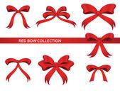 Coleção de belas curvas vermelhas — Vetor de Stock