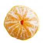 Partly Peeled Orange — Stock Photo