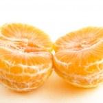 Halved Christmas orange — Stock Photo #5678766