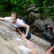 Stock Photo: Female Climber