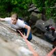 Female Climber — Stock Photo