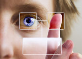 Finger Print Iris Scan — Stockfoto