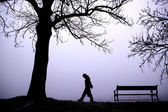 Depressed in Fog — Stock Photo