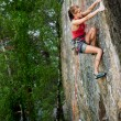 Female Climber — Stock Photo #5680219