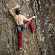 Male Rock Climber — Stock Photo