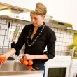 Female Washing Tomatoes — Stock Photo #5680533