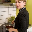 Cooking on the Stove — Stock Photo