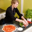 Homemade Italian Style Pizza — Stock Photo #5680946