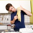 Homemade Pasta Fettuccine - Stock Photo