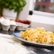 Fresh Fettuccine - Stock Photo