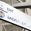 Baggage Claim & Exit Sign — Stock Photo