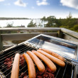 Hotdog BBQ - Stock Photo