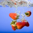 Strawberry Background in Water — Foto de Stock