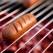Hotdog on Grill — Stock Photo