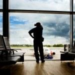Airport Wait Transfer — Stock Photo