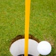 Stock Photo: Golf Ball Hole