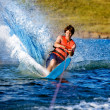 Stock Photo: Water Skiing