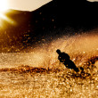 Sunset Waterski — Stock Photo