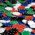Casino Chip Background — Stock Photo