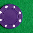 Purple Poker Chip - Photo