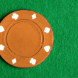 Orange Poker Chip - Stock Photo