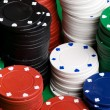 Poker Chips Stack — Foto Stock