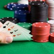 poker winnen — Stockfoto