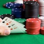 vyhrát poker — Stock fotografie