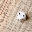 Stock Photo: Dice and Stock Market Concept