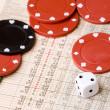 Stock Market Gamble — Stock Photo